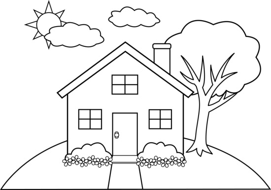 house-on-hill-line-art