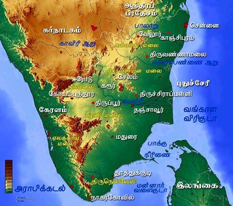 south-india-map